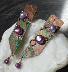 Purple Articulate Restyle earrings